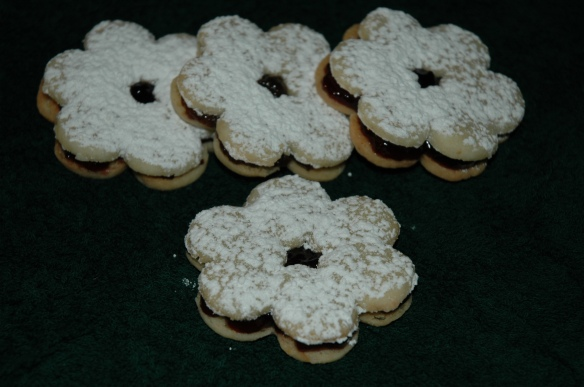 Mini Linzer Cookies by Bakewell Junction