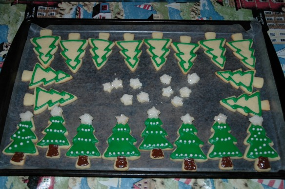 Christmas Tree Vanilla Sugar Cookies by Bakewell Junction