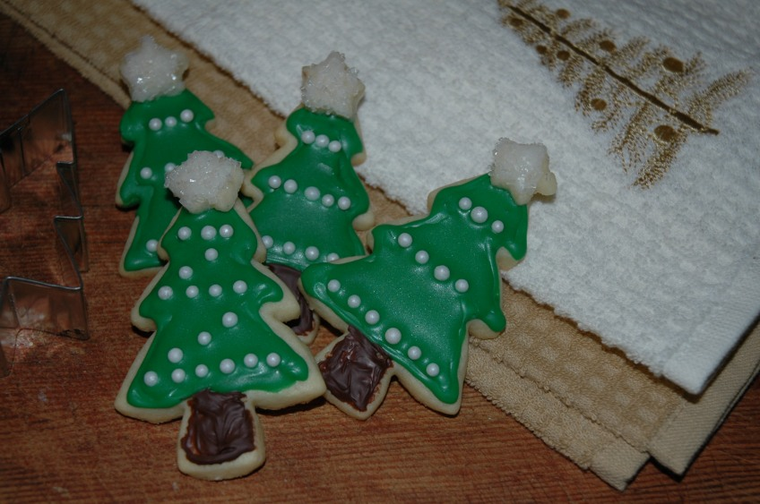 Christmas Tree Vanilla Sugar Cookies by Bakewell Junction