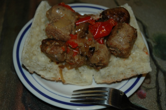 Sausage and Peppers by Bakewell Junction