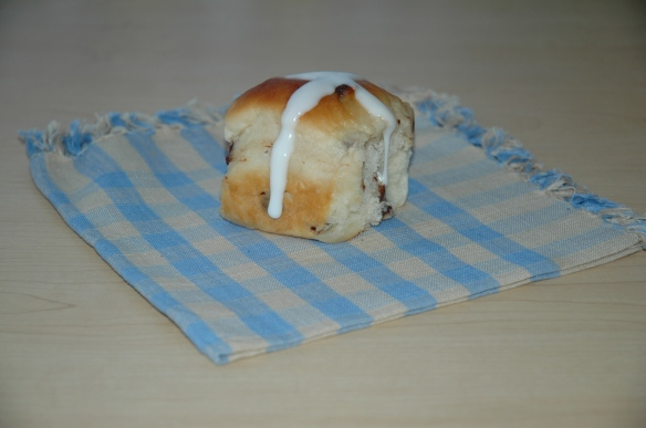 Buttermilk Chocolate Chip Hot Cross Buns #chocolateparty by Bakewell Junction