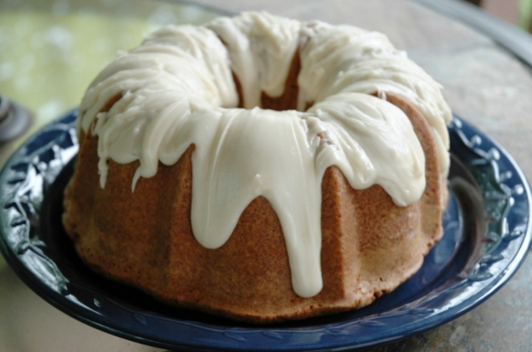 Apricot Brandy Pound Cake with Apricot Brandy Glaze | Bakewell Junction