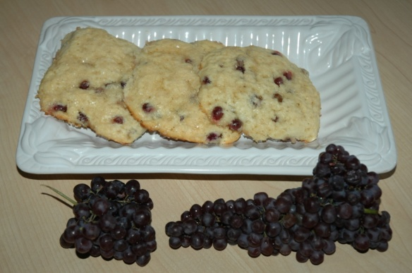 Cream Scones with Champagne Grapes   Bakewell Junction