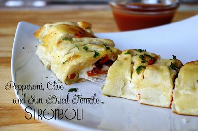 pepperoni olive and sun dried tomato stomboli feature pic