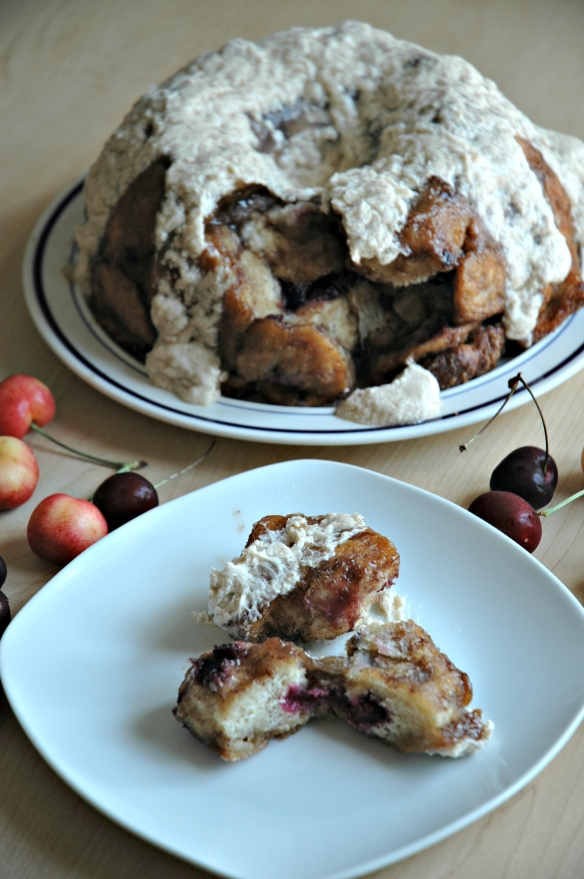 Fresh Cherry Monkey Bread | Bakewell Junction - addicting and delicious