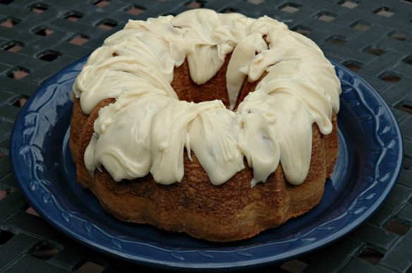 Peach Brandy Pound Cake with Peach Brandy Glaze | Bakewell Junction