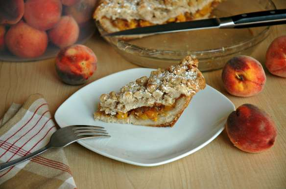 Ultimate Crumb Peach Pie | Bakewell Junction